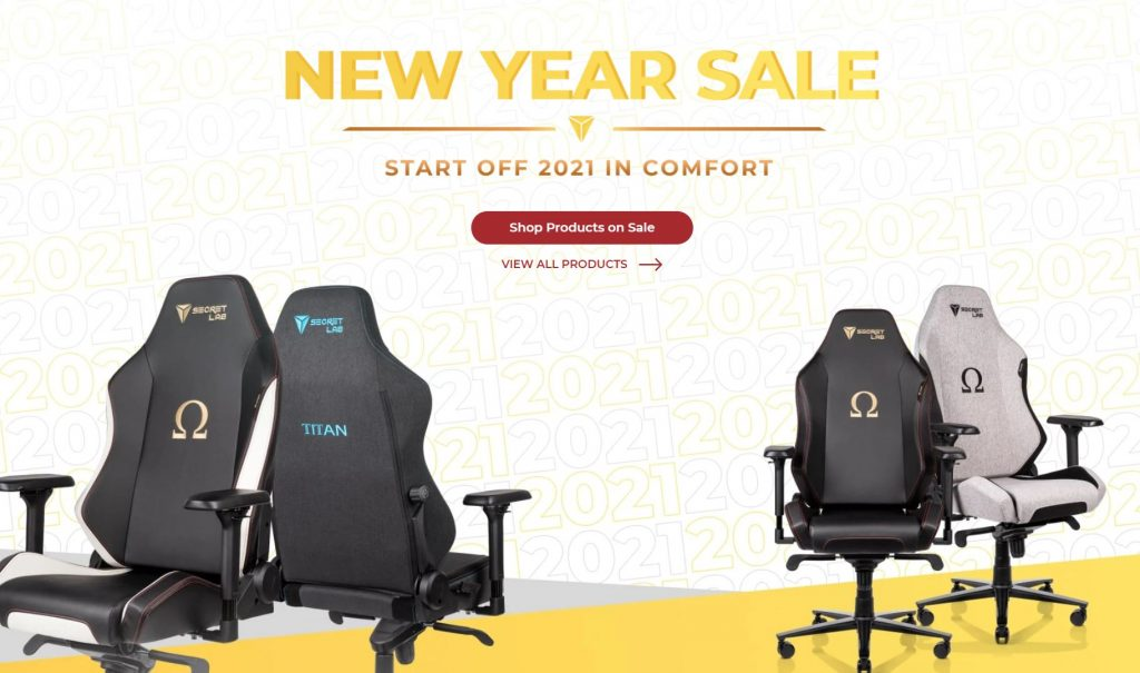 Secretlab New Year Sale